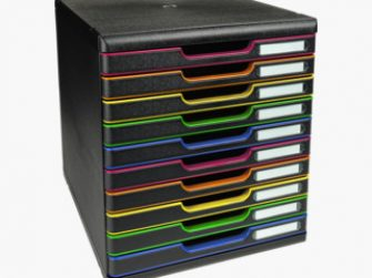 Mòdul 10 calaixos A4+ negre/colors Exacompta 302914D