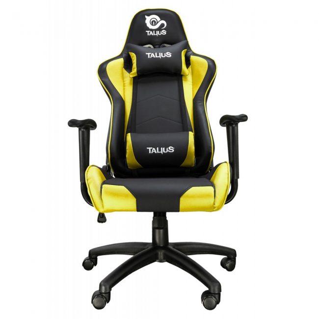 Cadira rodes Gaming groga / negre Talius Gecko