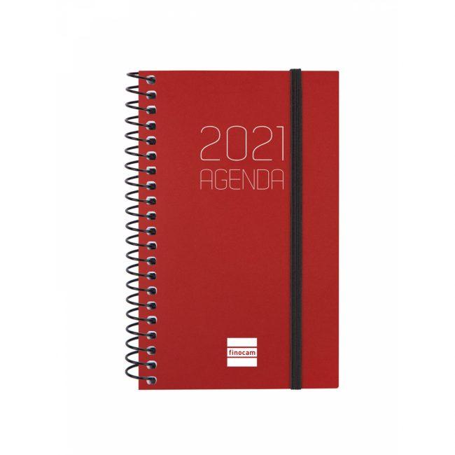 Agenda s/v 79x127 espiral Finocam Opaque Vermell