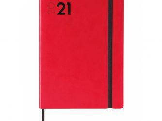 Agenda s/v apaisat 140x204 Finocam Mara Vermell