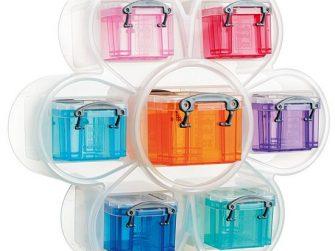 Caixa organitzadora Flor 120x305x280 7 caixes colors Archivo 2000