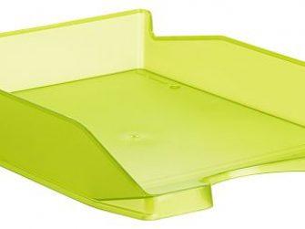 Panera sobre taula plàstic verda translúcida Archivo 2000