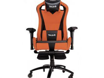 Cadira rodes Gaming taronja / negre Talius Caiman