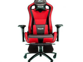 Cadira rodes Gaming vermella / negre Talius Caiman